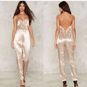 Nasty Gal Gold Champagne Jumpsuit